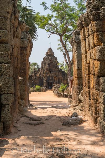 Khmer ruins at Ta Prohm Temple in Tonle Bati, Cambodia