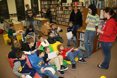 Tamaqua Boy Scouts Visit Tamaqua Public Library, Tamaqua (2-16-2012)