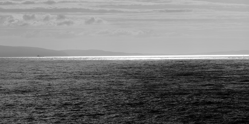 Scenic view of the Atlantic Ocean, County Antrim, Northern Ireland, Ireland