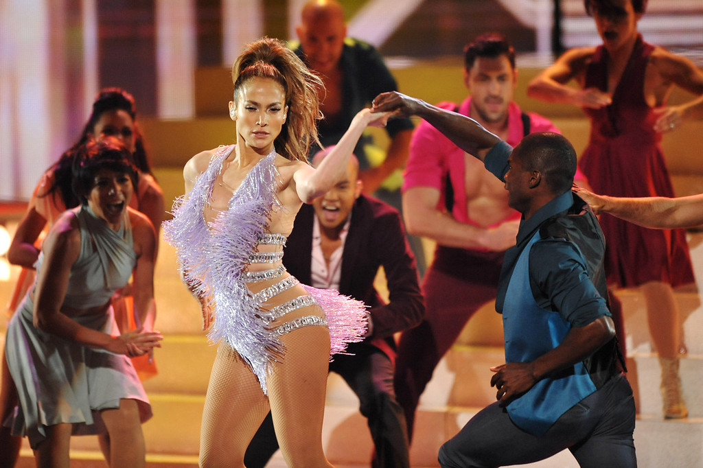 . Jennifer Lopez performs at the American Music Awards at the Nokia Theatre L.A. Live on Sunday, Nov. 24, 2013, in Los Angeles. (Photo by John Shearer/Invision/AP)