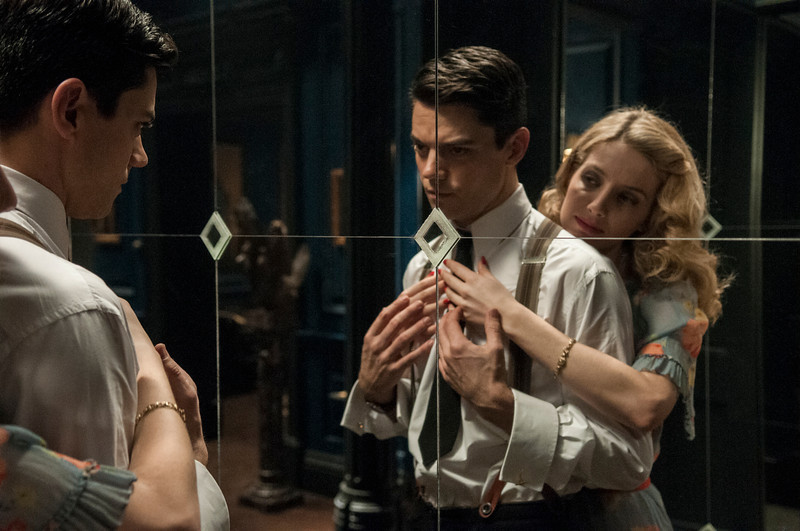 . Dominic Cooper as Ian Fleming and Annabelle Wallis as Muriel. (Photo by Vermes Kata)
