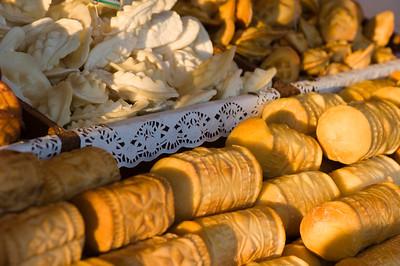 Traditional smoked goat cheese called oscypek on sale, Gubalowka Hill, Zakopane, Tatra Mountains, Podhale Region, Poland