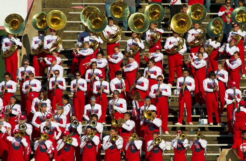 The UH brass in the stands