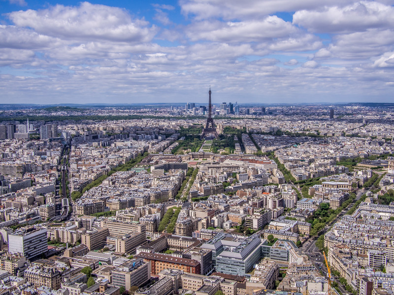 Paris from Monmartre tower