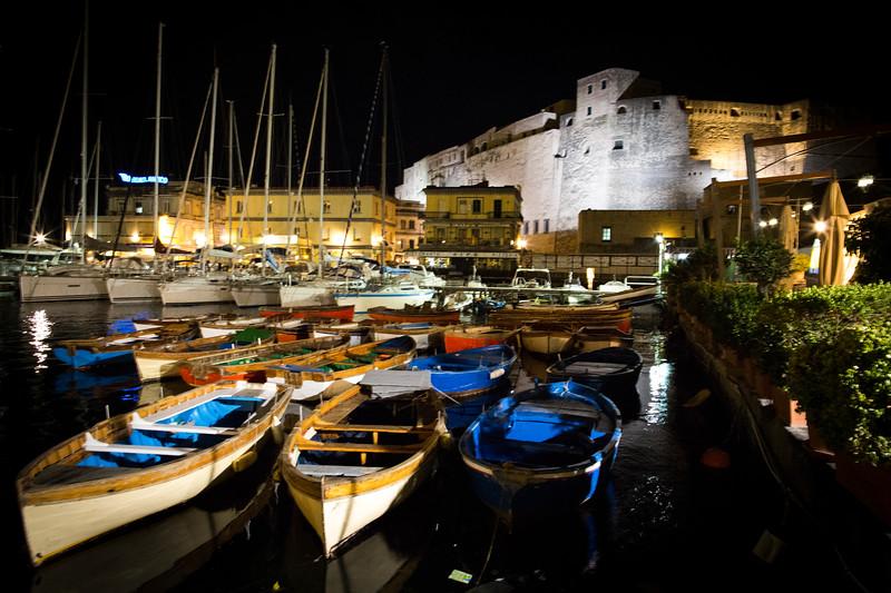 Nesting Boats At Castel Dell Ovo, Naples