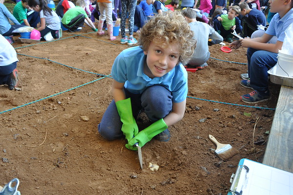 Fourth-Grade Archaeologists Unearth Artifacts During the Big Dig