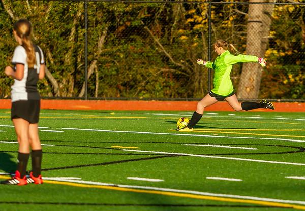 Into the Second half Set three: Vashon Island High School Girls JV Soccer v Seattle Academy 10/30/2019