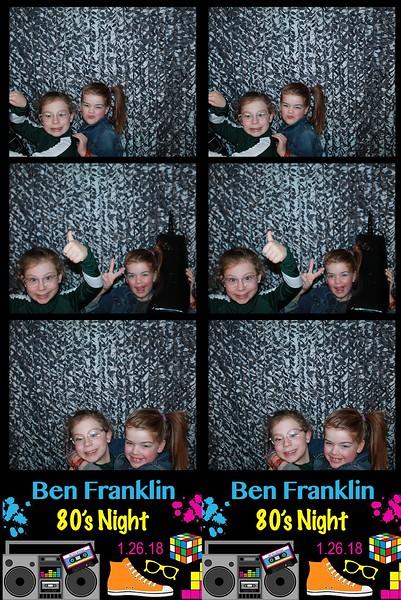"Ben Franklin ""80's Night 2018"""