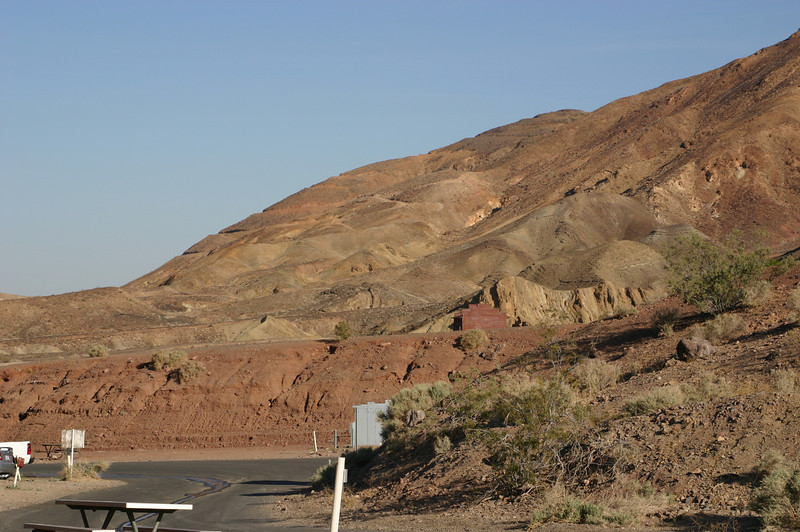 The town of Calico, it said, was named for the patchwork of colors in the hills around the town. As Linda said, they were being a little generous about the colors.