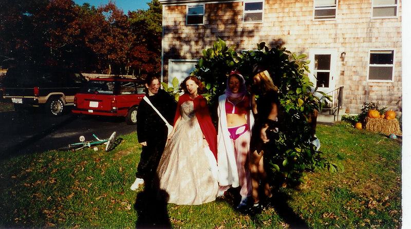 Halloween!  Rachel, myself, Adrian and Christi.