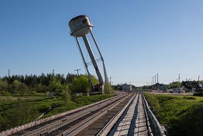 Moosonee water tower demolition 2017 June 10