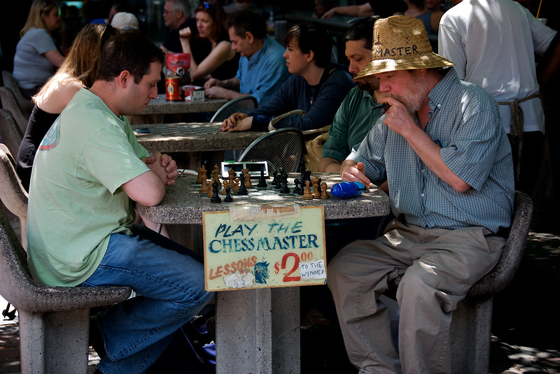 Chess Master at Harvard Square
