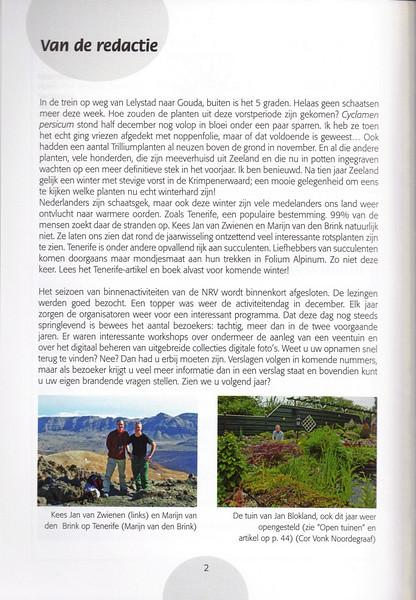 Tenerife: rond oud-en-nieuw op plantenjacht, Marijn van den Brink en Kees Jan van Zwienen, February 2009