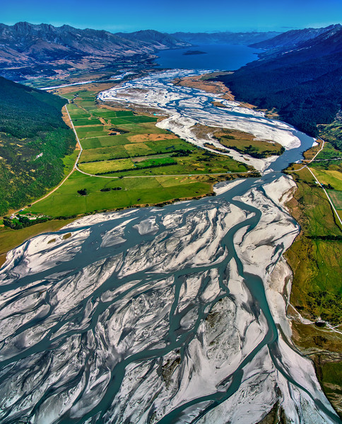 Beautiful Braided Rivers from the Glaciers