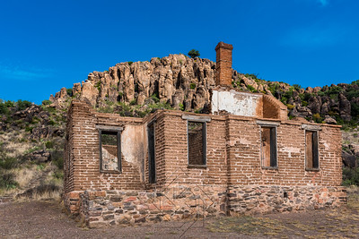 Brick structure on military post in west Texas