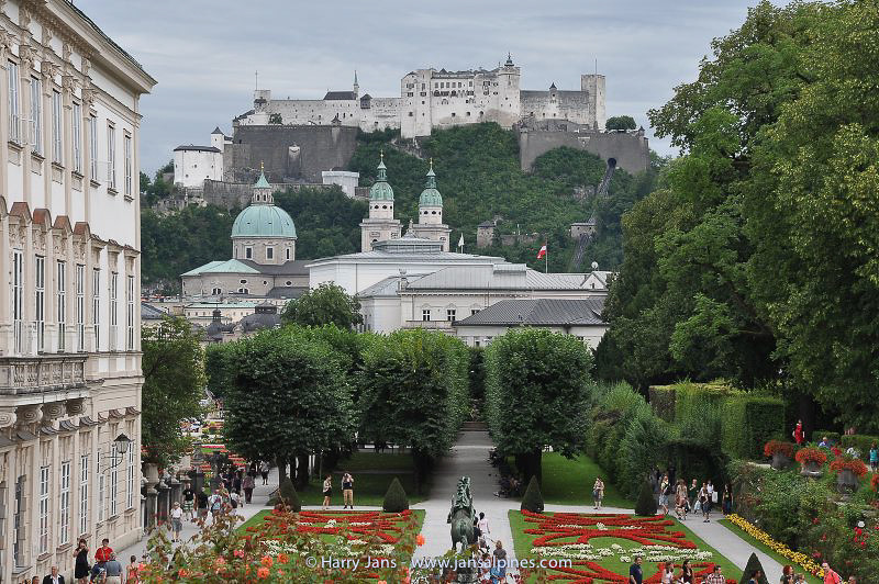 Schloss Mirabell with Hohensalzburg Castle in the back