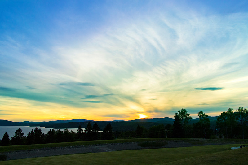 Sunset from the Rangeley Fitness Center