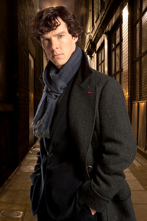 """. FILE - In this undated file publicity image released by PBS,  Benedict Cumberbatch portrays Sherlock Holmes in \""""Sherlock.\"""" Cumberbatch was nominated for an Emmy Award for best actor in a miniseries or movie for \""""Sherlock: His Last Vow,\"""" on Thursday, July 10, 2014. The 66th Primetime Emmy Awards will be presented Aug. 25 at the Nokia Theatre in Los Angeles. (AP Photo/PBS, File)"""