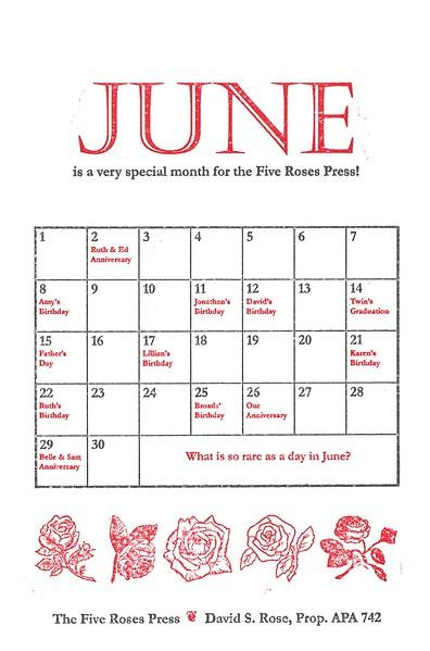 June, 2003, Five Roses Press