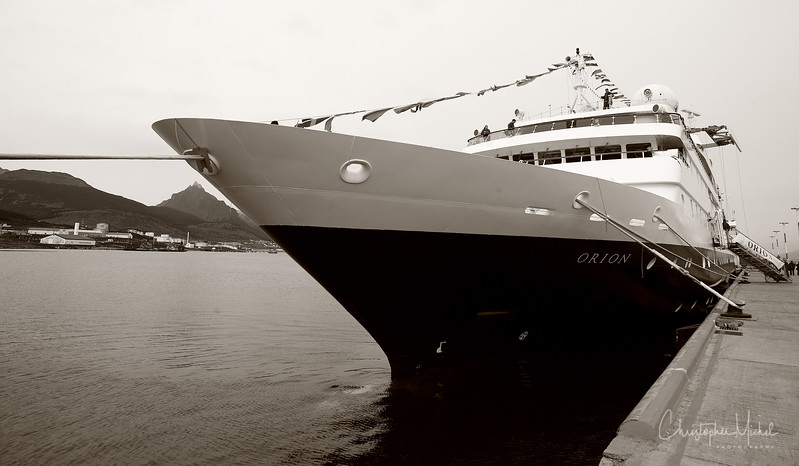 MV Orion in Ushuaia 54'48'S 68'19W