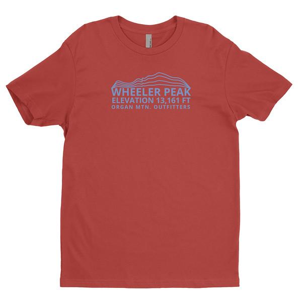 Organ Mountain Outfitters - Outdoor Apparel - Mens T-Shirt - Wheeler Peak Tee - Red Front.jpg