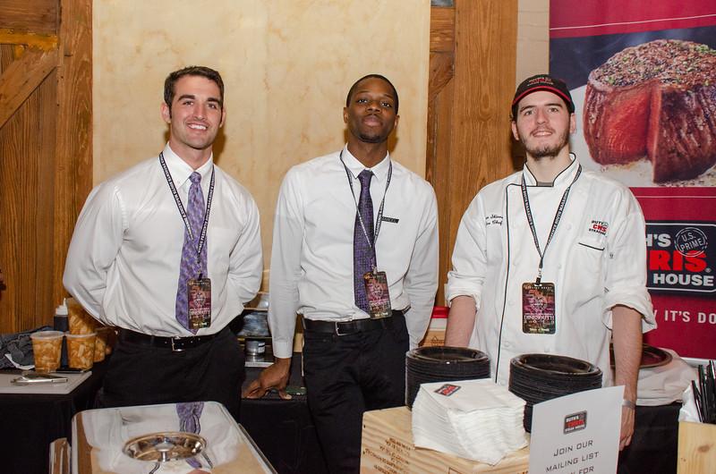 Austin Peigh, Jamil Muhammad, & Christian Skinner of Ruth's Chris Steak House