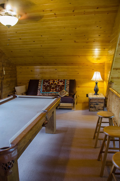 The loft. The kids tell me the pool table will stay.