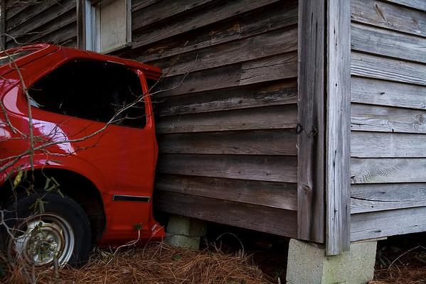Red Car Split Davis Highway, Morrisville North Carolina - Raleigh Durham Morrisville Cary Photographer