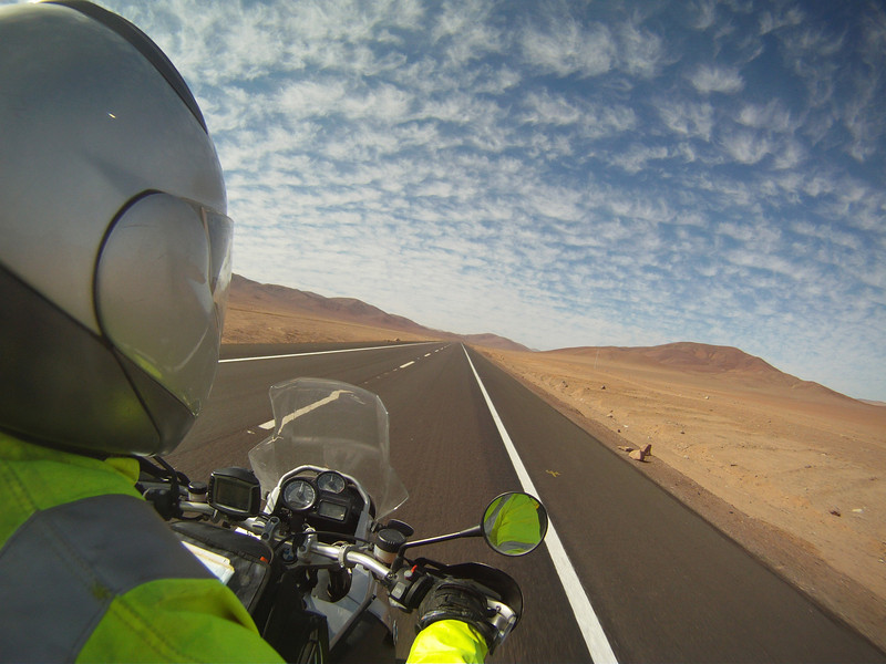 R1200GS Chile, South America - great photo somewhere on the Pan-American Highway