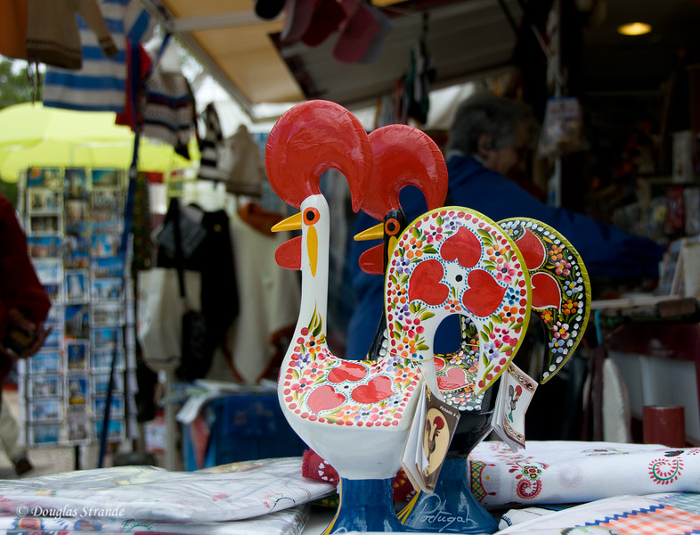 Thur 3/17 in Lisbon: Roosters, symbolizing a classic Portuguese folk story
