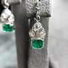2.00ctw+ Emerald and Diamond Art Deco Conversion Earrings 22