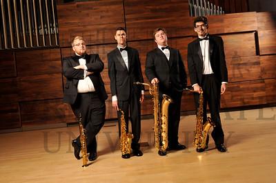 14645 Sax Quartet in Schuster Hall 10-17-14