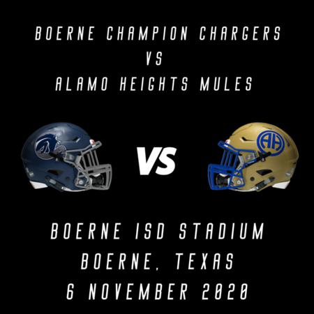 2020 Boerne Champion vs Alamo Heights