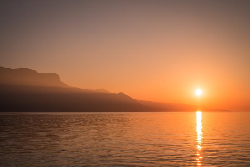 Sunset in Vevey
