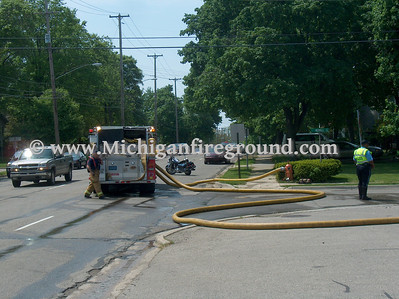 5/15/07 - Lansing Twp commercial building fire, 2820 E. Grand River