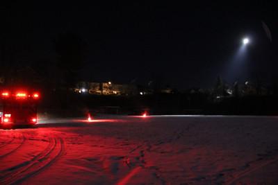 Helicopter Landing, Ball Field, Dutch Hill, Tamaqua (1-23-2013)