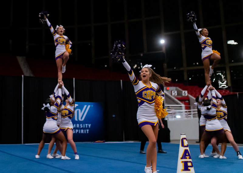Broughton cheerleading Pre-States. November 16, 2019. D4S_1766
