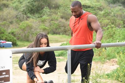 Raquel & DJ Workout Beach Fitness