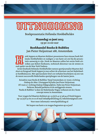 Boekpresentatie Hollandse Honbalhelden (10-06-2013)