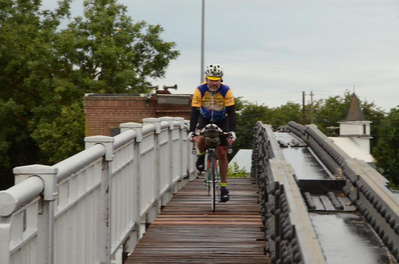John Ellis takes the safer crossing