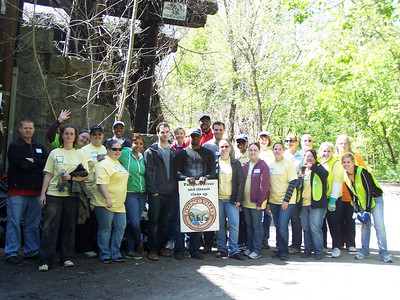 4.27.12 River Cleanup in Ilchester Area of Patapsco State Park With Nationwide Insurance Employees