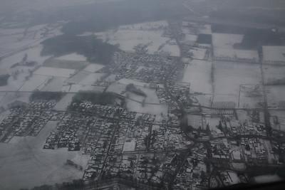 Wezel vanuit een vliegtuig winter 2012