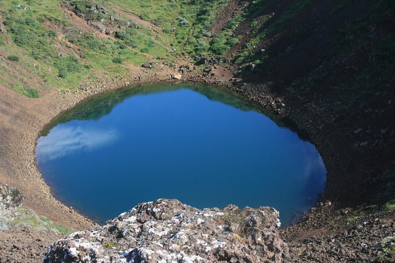 Kerid - volcanic crater lake.