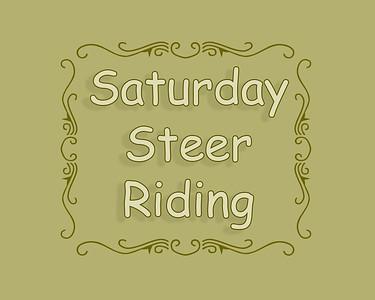 Steer Riding Saturday
