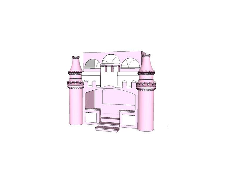Bella's Princess Castle Bunk Bed.jpg