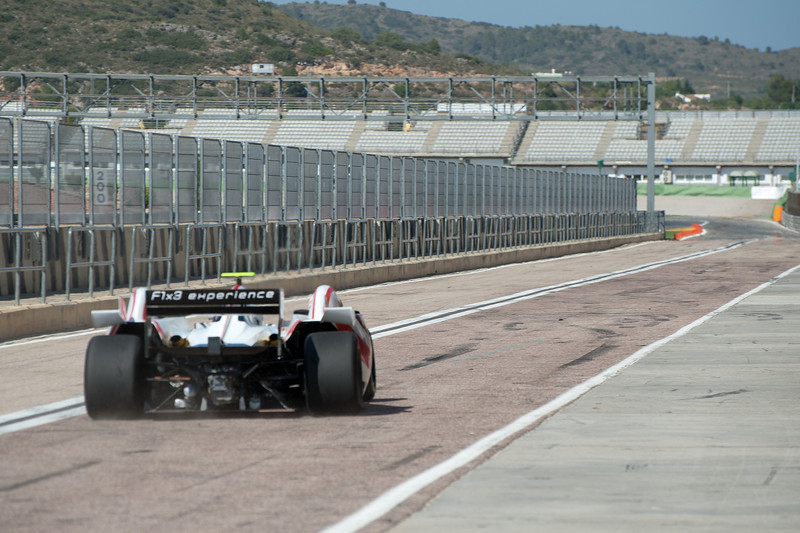 Formula One race car onto the circuit in 2011 European Grand Prix - Valencia, Spain