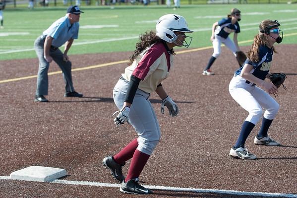 05/15/19 Wesley Bunnell | Staff New Britain softball defeated Simsbury 4-2 at Chesley Park on Wednesday afternoon. Naishka Perez (15).