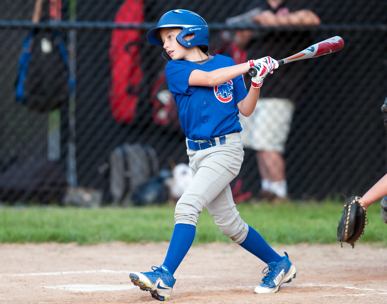 08/20/18  Wesley Bunnell | Staff  The Bristol Little League City Series on Monday night featuring the Cub defeating the White Sox at Frazier Field. Cubs Gabriel White (3).
