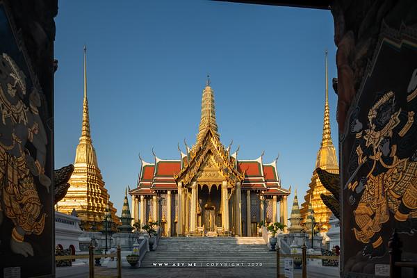 Prasat Phra Dhepbidorn & Golden Pagoda