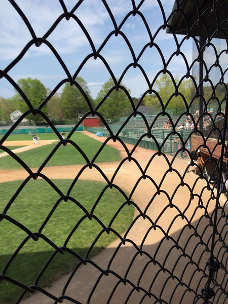 View from behind the fence at Doubleday Field